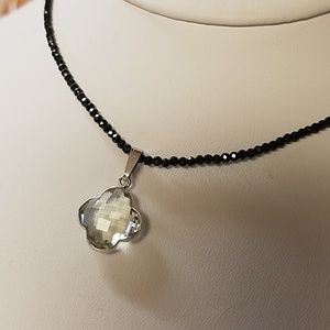 Jewelry - Black Spinel Green Amethyst Necklace